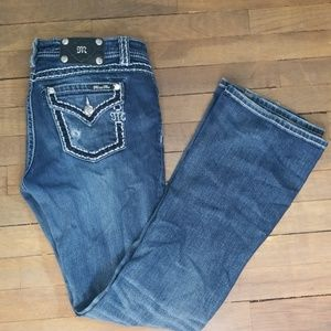 Miss Me darkwash relaxed boot jeans